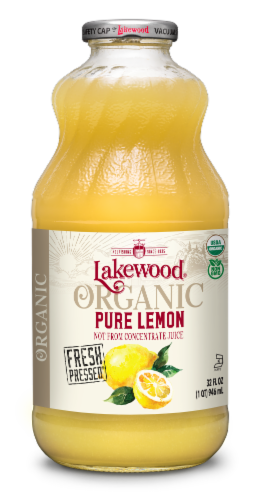 Lakewood Organic Pure Lemon Juice Perspective: front