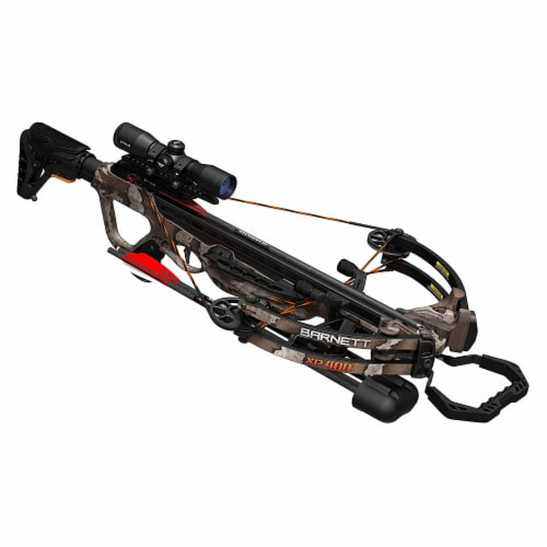 Barnett Explorer Series XP400 Hunting Compound Crossbow with Scope, Strike Camo Perspective: front