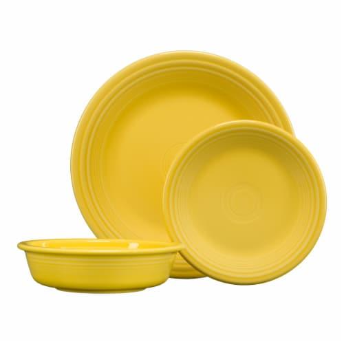 Fiesta Classic Dinnerware Set - Sunflower Perspective: front
