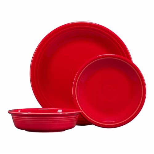 Fiesta Classic Dinnerware Set - Scarlet Perspective: front