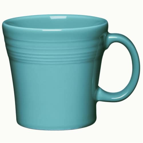 Fiesta Tapered Mug - Turquoise Perspective: front