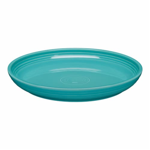 Fiesta Luncheon Salad Bowl Plate - Turquoise Perspective: front