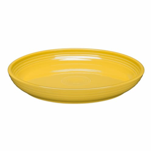 Fiesta Luncheon Salad Bowl Plate - Sunflower Perspective: front