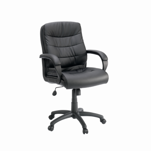 Sauder Mid-Managers Adjustable Chair - Black Perspective: front