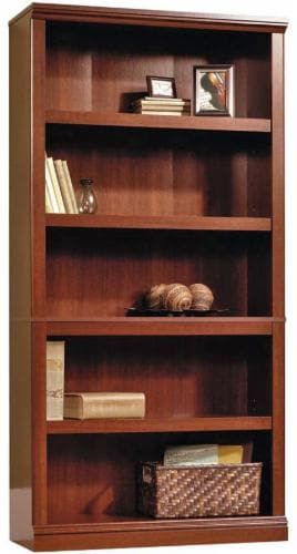 Sauder® Select Collection 5-Shelf Bookcase - Select Cherry Perspective: front