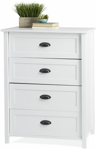 Sauder County Line 4-Drawer Chest - White Perspective: front