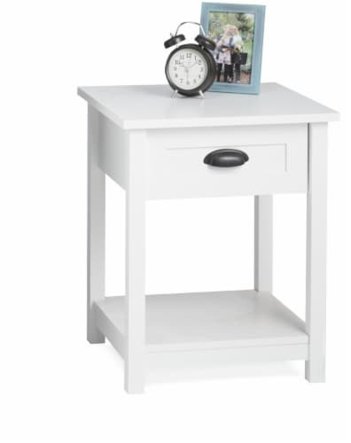 Sauder County Line Nightstand - White Perspective: front
