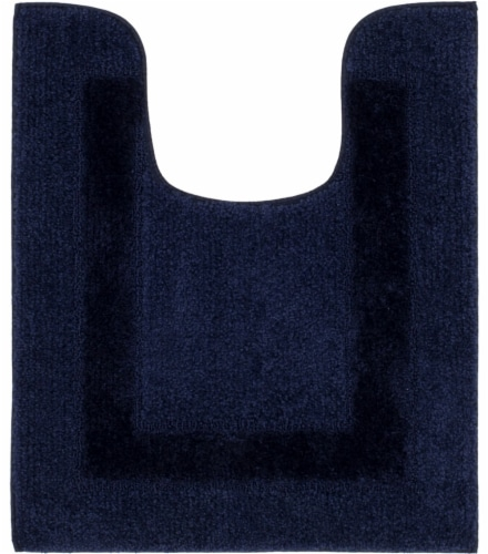 Mohawk Home American Heritage Contour Bath Rug - Medieval Blue Perspective: front
