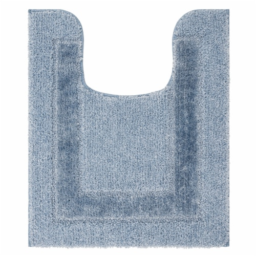 Mohawk Home American Heritage Ashley Blue Contour Bath Rug Perspective: front
