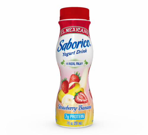 El Mexicano Strawberry Banana Drinkable Yogurt Perspective: front