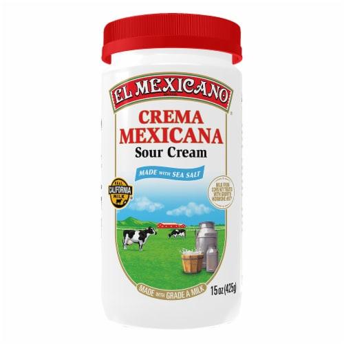 El Mexicano Crema Mexicana Grade A Sour Cream Perspective: front