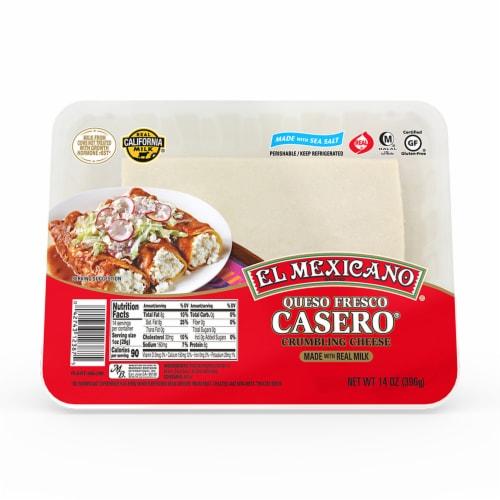 El Mexicano Queso Fresco Casero Crumbling Cheese Perspective: front