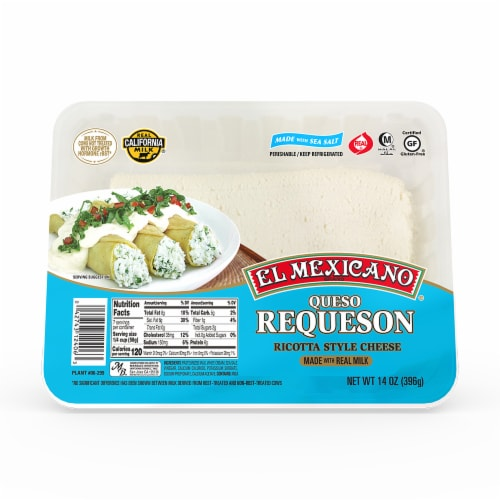El Mexicano Queso Requeson Ricotta Style Cheese Perspective: front