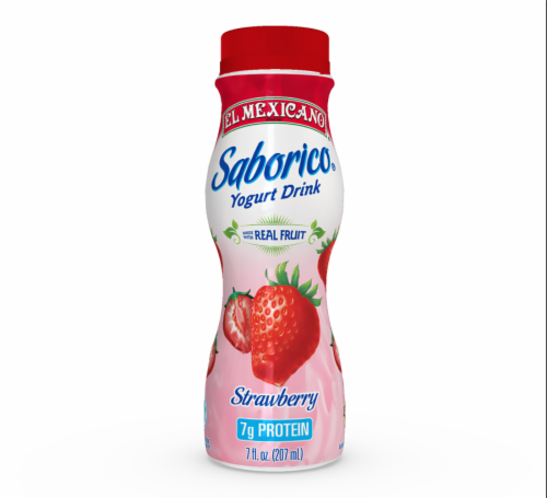 El Mexicano Strawberry Drinkable Yogurt Perspective: front