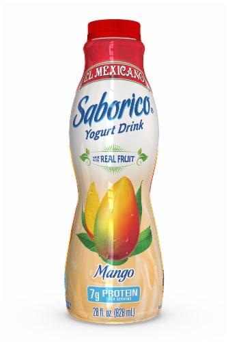 El Mexicano Saborico Mango Yogurt Drink Perspective: front