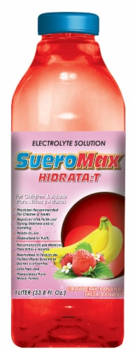 SueroMax Strawberry Banana Electrolyte Solution Perspective: front