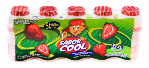 Sabor Cool Fresa Strawberry Dairy Beverage Perspective: front