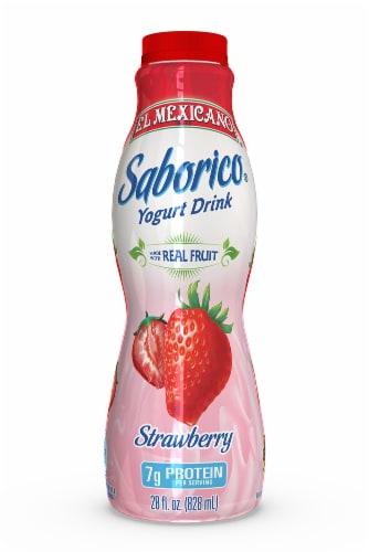 El Mexicano Saborico Strawberry Yogurt Drink Perspective: front