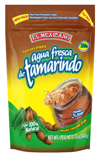 El Mexicano Agua Fresca de Tamarindo Drink Mix Perspective: front