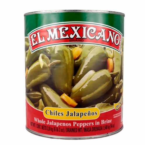 El Mexicano Whole Chiles Jalapenos Perspective: front