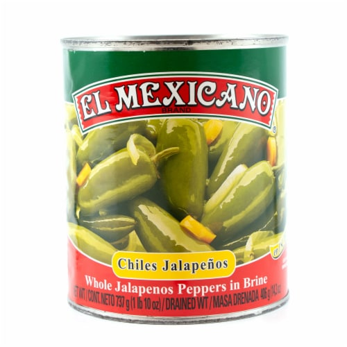 El Mexicano® Whole Jalapeno Peppers in Brine Perspective: front