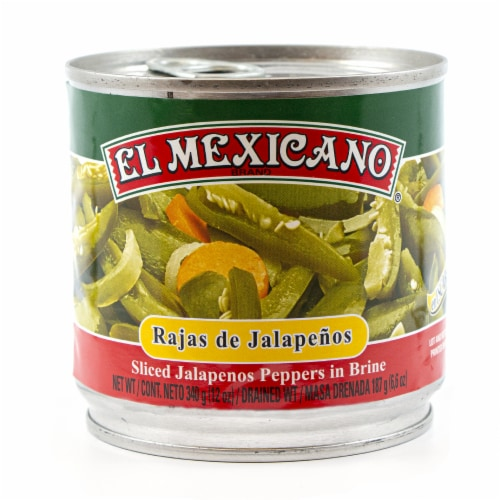 El Mexicano Sliced Jalapenos Perspective: front