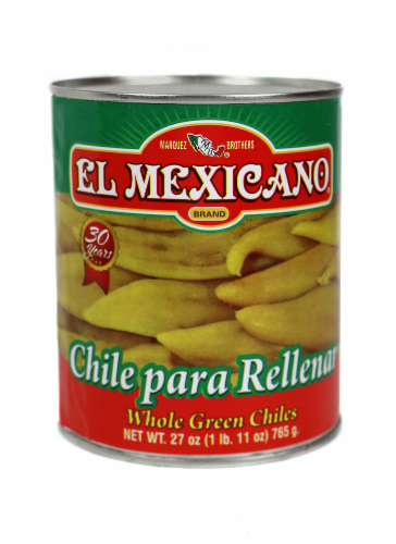 El Mexicano Whole Green Chiles Perspective: front