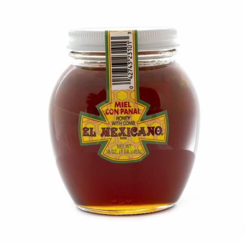 El Mexicano Honey with Comb Perspective: front