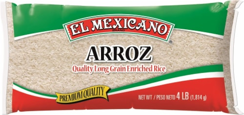 El Mexicano Long Grain Rice Perspective: front
