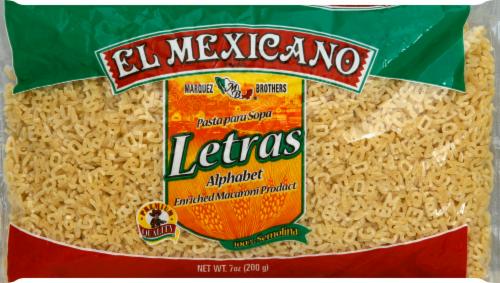 El Mexicano Alphabet Pasta Perspective: front