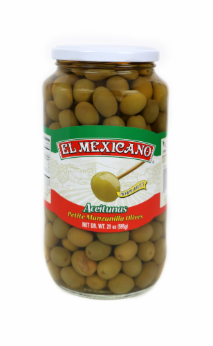 El Mexicano Green Olives Perspective: front