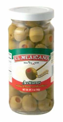 El Mexicano Stuffed Olives Perspective: front