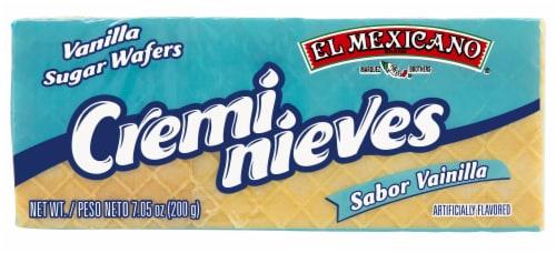 El Mexicano Vanilla Cremi Nieves Sugar Wafers Perspective: front