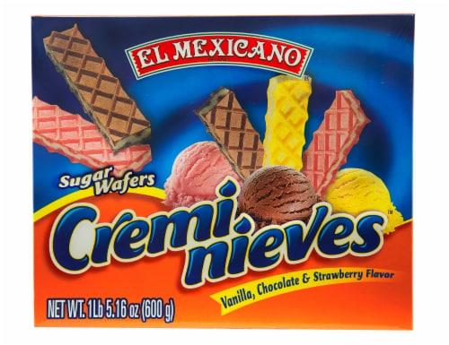 El Mexicano Creminieves Surtido Sugar Wafer Cookies Perspective: front