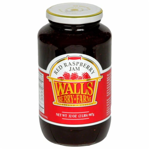 Walls Berry Farm Red Raspberry Jam Perspective: front