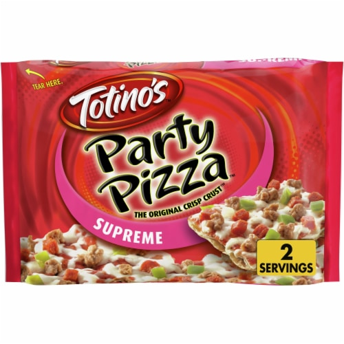 Totino's Supreme Party Pizza Perspective: front
