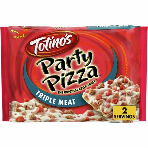 Totino's Frozen Triple Meat Party Pizza Perspective: front