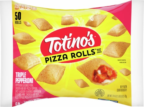 Totinos Triple Pepperoni Pizza Rolls Perspective: front