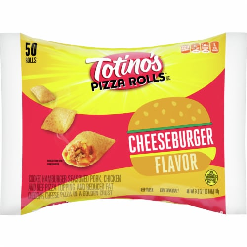 Totino's Cheeseburger Flavor Pizza Rolls Perspective: front