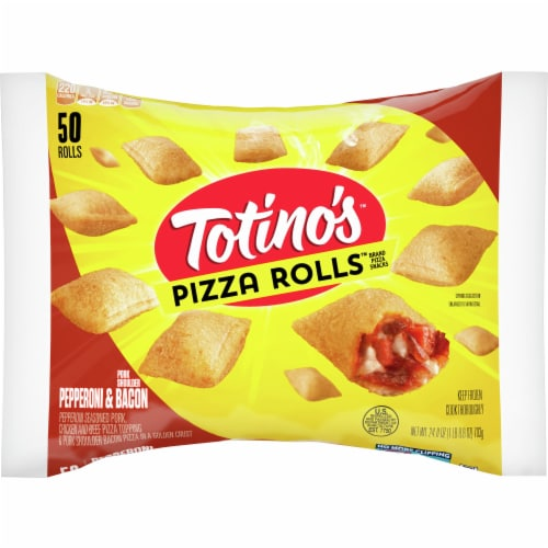 Totino's Pepperoni & Bacon Pizza Rolls Perspective: front