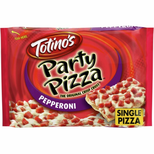 Totino's Pepperoni Party Pizza Perspective: front