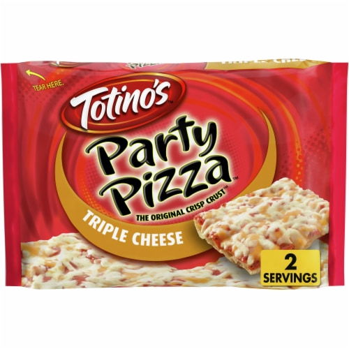 Totino's Frozen Triple Cheese Party Pizza Perspective: front