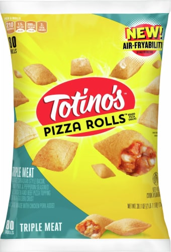 Totino's Triple Meat Frozen Pizza Rolls Perspective: front
