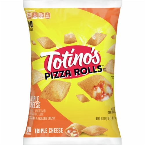 Totino's Triple Cheese Frozen Pizza Rolls Perspective: front