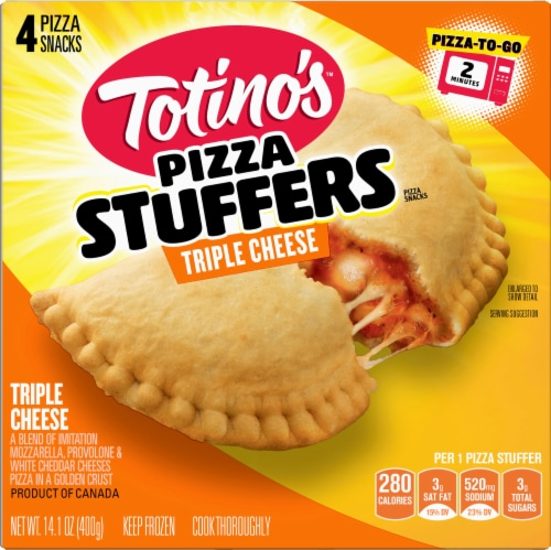 Totino's Triple Cheese Frozen Pizza Stuffers Perspective: front
