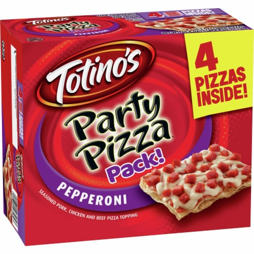 Totino's Pepperoni Party Pizza Pack Perspective: front