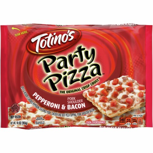 Totino's Pepperoni & Bacon Party Pizza Perspective: front