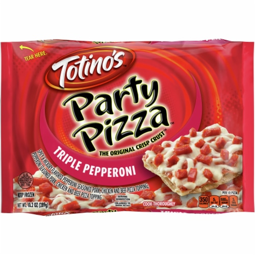 Totino's Triple Pepperoni Party Pizza Perspective: front