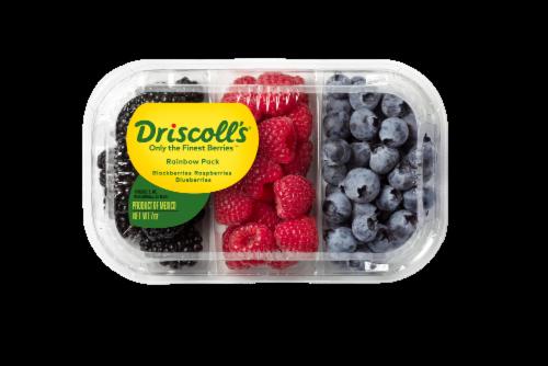 Driscoll's Rainbow Pack Blackberries Blueberries & Raspberries Perspective: front