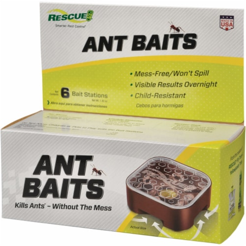 Rescue 1.92 Oz. Gel Ant Bait Station (6-Pack) AB6-BB4 Perspective: front